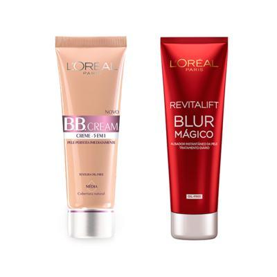 Imagem 1 do produto BB Cream L'Oréal (Média) + Creme Facial L'Oréal Revitalif Blur
