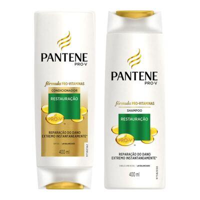 Kit Pantene Restaruração Shampoo + Condicionador 400ml