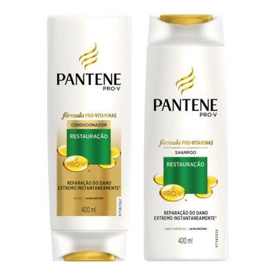 Imagem 1 do produto Kit Pantene Restaruração Shampoo + Condicionador 400ml