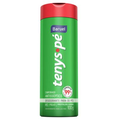 Imagem 2 do produto Kit Tenys Baruel Pé Talco Desodorante Cânfora 100g + Talco Desodorante Barcelona 100g
