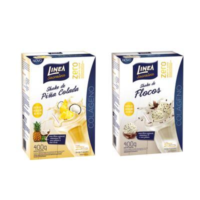 Imagem 1 do produto Loção Giovanna Baby Hidratante Classic 200ml 2 Unidades - Shake Linea Pina Colada 400g + Shake Linea Flocos 400g