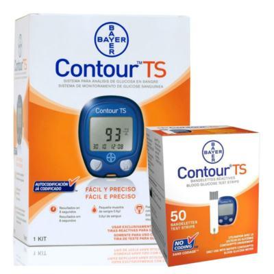 Kit Contour TS Com Bayer 10 Tiras + Contour TS Bayer 50 Tiras