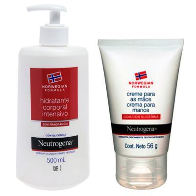 Imagem 1 do produto Norw Body Neutrogena Com Fragrância 500ml + Neutrogena Creme Tratamento para Mãos 56,7g