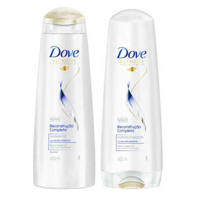 Imagem 6 do produto Kit Secador Taiff Black 1700W 110V + Chapinha Taiff Cerâmica Bivolt + Dove Reconst Shampoo/Condic