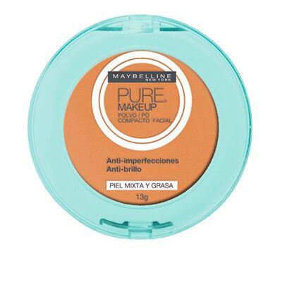 Imagem 1 do produto Pure Makeup Maybelline - Pó Compacto - Dourado