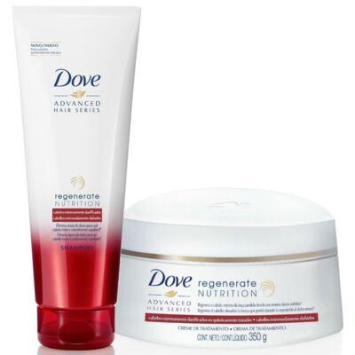 Imagem 1 do produto Kit Dove Regenerate Nutrition Shampoo 200ml + Creme de Tratamento 350g