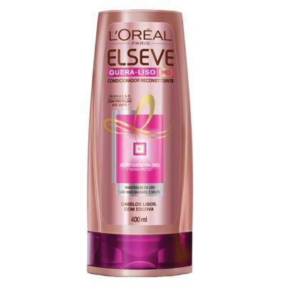 Imagem 3 do produto Kit Shampoo + Condicionador + Sérum L'Oréal Paris Elseve Quera-Liso Mq 230°C - Kit