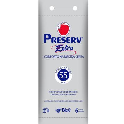 Imagem 1 do produto Preservativo Preserv Extra Lubrificado 6 Unidades