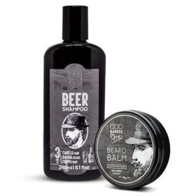 QOD Barber Shop Kit - Bálsamo + Shampoo Beer - Kit