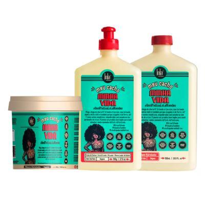Imagem 2 do produto Lola Cosmetics Meu Cacho Minha Vida  Kit - Shampoo + Creme de Pentear + Máscara Hidratante - Kit