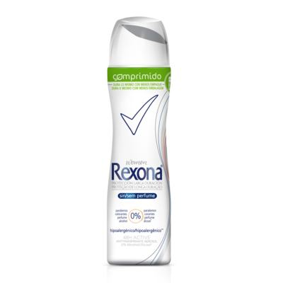 Desodorante Rexona Comprimido Feminino Aerosol Sem Perfume 56g