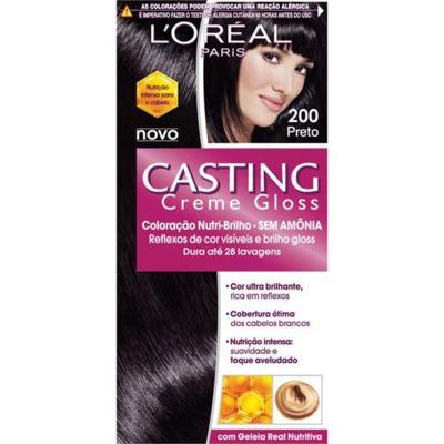 Imagem 1 do produto Coloração Casting Creme Gloss L'Oréal Paris - 200 preto