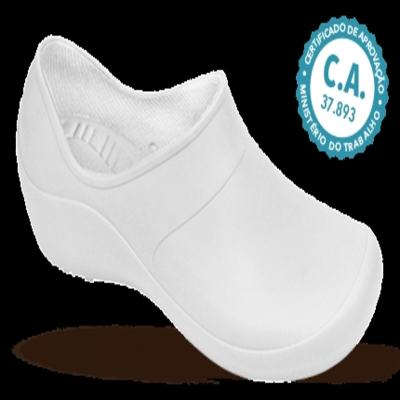 Sapato Profissional Feminino Mary Branco Boa Onda - 40