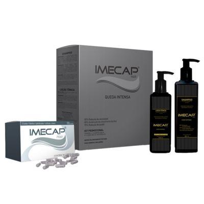 Kit Imecap Hair Queda Intensa Shampoo + Loção + 30 cápsulas