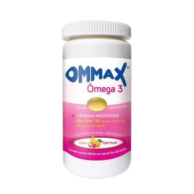 Ômega 3 Ommax - Sabor Tutti Frutti | 90 cápsulas
