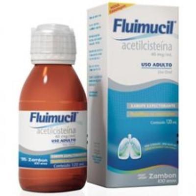 Imagem 1 do produto Fluimucil Xarope Expectorante Adulto Sabor Morango e Romã 40mg/mL 120mL