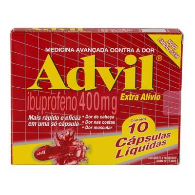 Advil Extra Alívio - 400mg | 10 cápsulas líquidas