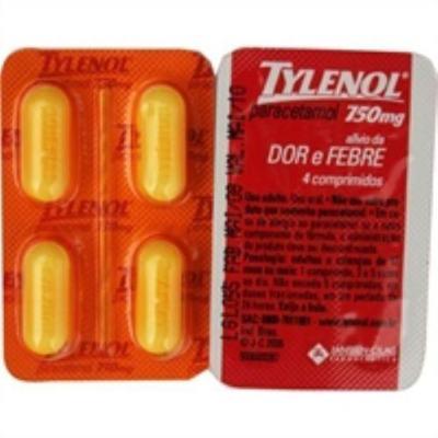 Imagem 1 do produto Tylenol 750mg 4 comprimidos revestidos
