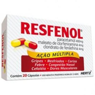 Imagem 2 do produto Resfenol 20 cápsulas Kley Hertz - 20 cápsulas