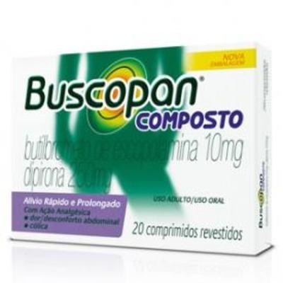 Imagem 1 do produto Buscopan Composto Adulto 10mg+250mg 20 comprimidos