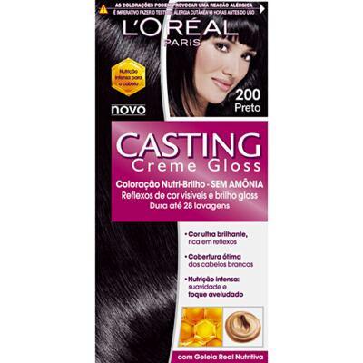 Tintura L'Oréal Casting Gloss 200 Preto