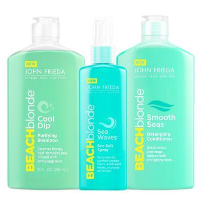 Imagem 1 do produto Kit Shampoo + Condicionador + Spray John Frieda Beach Blonde - Kit