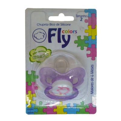 Imagem 1 do produto Chupeta Fly Colors Silicone Ortodôntico Lilas Maiores de 6 Meses Tamanho 2