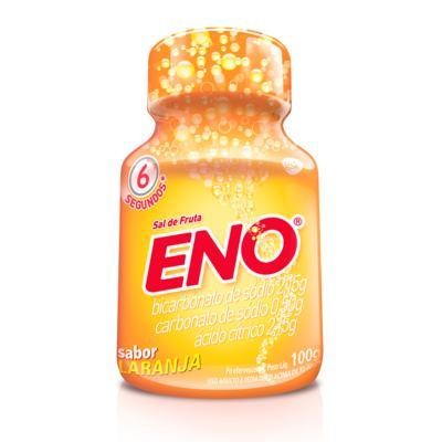 Sal de Frutas Eno - frasco com 100g de pó efervescente de uso oral, laranja -