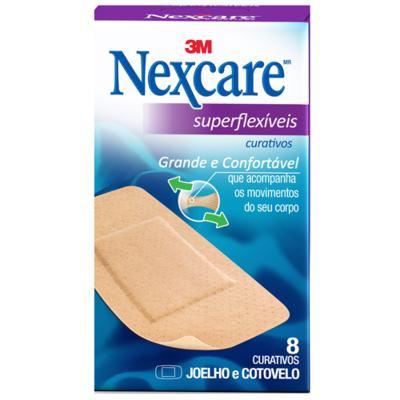 Curativo 3M Nexcare - Superflexíveis Joelho e Cotovelo | 8 unidades