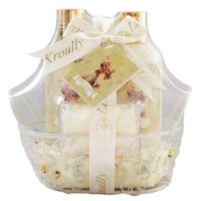 Skin Juice Baunilha Robyem -  Sabonete Liquido + Loção Hidratante + Pétala de Banho - Kit