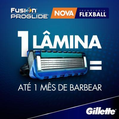 Imagem 4 do produto Carga Gillette Fusion Proglide - 4 Unidades