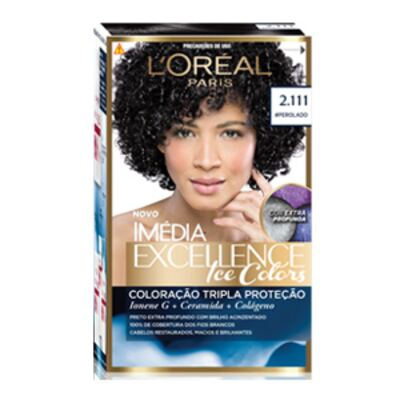 Tintura Imédia Excellence L'Oréal Ice Colors 2.111 Preto Perolado