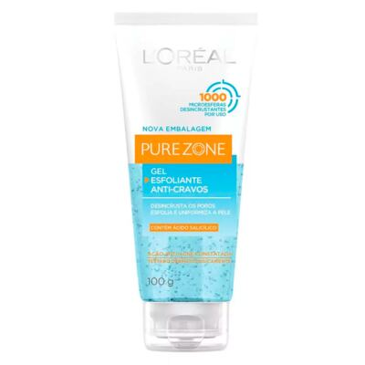 Esfoliante Facial L'Oréal Paris Gel Esfoliante Anti-Cravos Resistentes Dermo Expertise - 100g