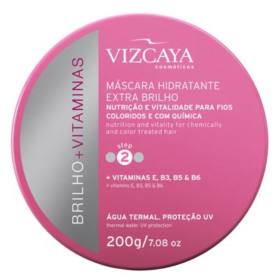 Vizcaya Brilho + Vitaminas Extra Brilho - Máscara Hidratante - 200g