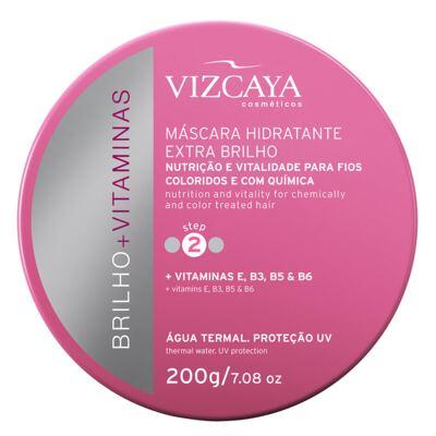 Imagem 1 do produto Vizcaya Brilho + Vitaminas Extra Brilho - Máscara Hidratante - 200g