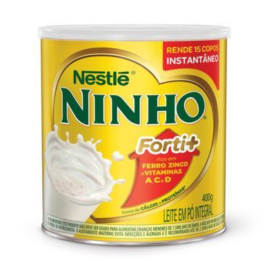 Imagem 1 do produto Leite em Pó Ninho Forti+ Integral Instantâneo Lata 400g