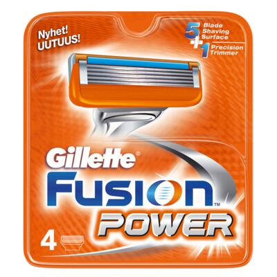 Gillette Fusion Power - Lâminas de Barbear - 4 Un