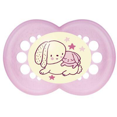 Imagem 2 do produto Chupeta Ortodôntica MAM Night Girls 6+ meses - 2524