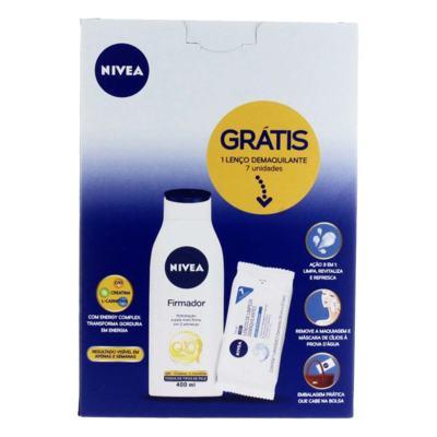 Imagem 1 do produto Kit Hidratante Firmador Nivea Q10 400ml + Lenço de Limpeza Demaquilante 7 Unidades