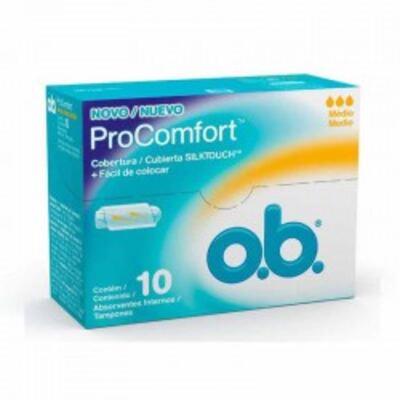 Absorvente Interno O.B. Médio Procomfort - 10 unidades