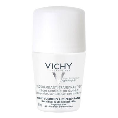Desodorante Roll On Vichy Peles Sensíveis Antitranspirante 48h 50ml