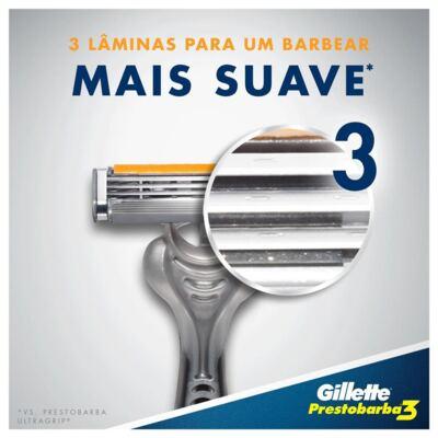 Imagem 2 do produto Aparelho de Barbear Gillette Prestobarba 3 - 4 Unidades