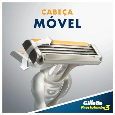 Imagem 3 do produto Aparelho de Barbear Gillette Prestobarba 3 - 4 Unidades
