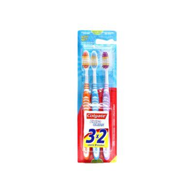 Escova Dental Colgate Extra Clean Média 3 Unidades