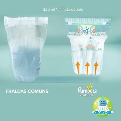 Imagem 9 do produto Fralda Pampers Confort Sec P 50 unidades -