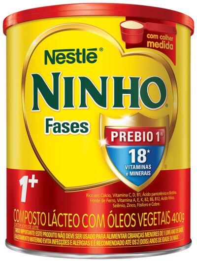 Imagem 1 do produto Composto Lácteo Nestlé Ninho Fases 1+ Lata 400g
