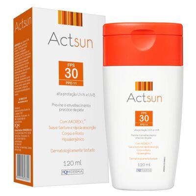 Imagem 1 do produto Protetor Solar em Loção Fps30 Actsun - Loção Protetora - 120ml