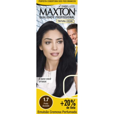 Kit Tintura Prático Maxton 1.7 Preto Azulado