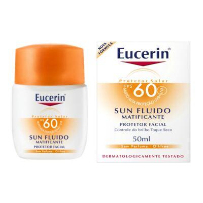 Imagem 1 do produto Protetor Solar Facial Eucerin Sun Fluido Matificante FPS 60 50ml
