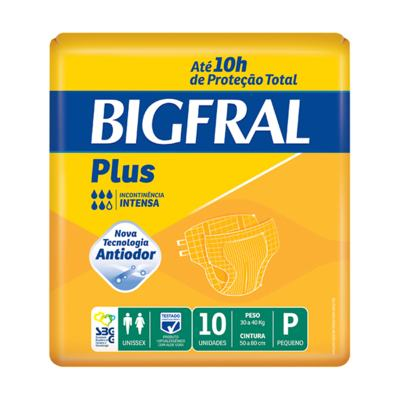 Imagem 1 do produto Kit Fralda Geriátrica Bigfral Plus P 80 unidades -